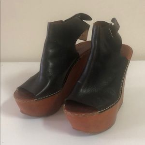 Original Chloe leather Black Platforms